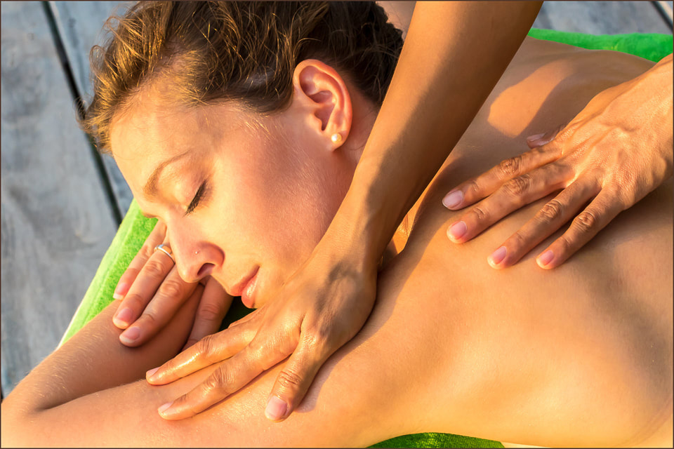 Enjoy a massage in front of a sunset